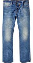 River Island MensMid blue Dean straight jeans