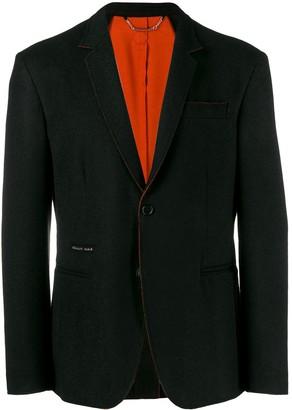 Philipp Plein contrast trim blazer