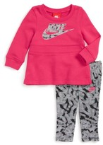 Nike Infant Girl's Modern Sweatshirt Dress & Leggings Set