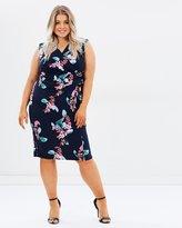 Evans Hourglass Fit Floral Wrap Dress