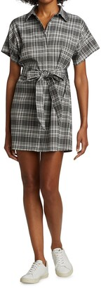 Alice + Olivia Lucette Plaid Belted Mini-Dress