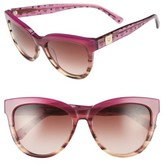 MCM Women's 56Mm Retro Sunglasses - Striped Orchid Visetos