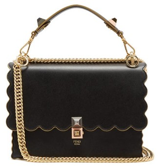 Fendi Kan I Leather Shoulder Bag - Womens - Black