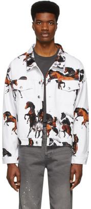 Rhude White Denim Horses Jacket