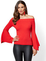 New York & Co. Bell-Sleeve Off-The-Shoulder Sweater
