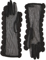 Simone Rocha Gloves With Crocheted Trim