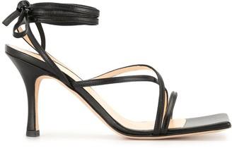 A.W.A.K.E. Mode Lace Up Heeled Sandals
