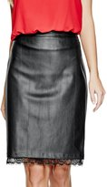 G by Guess Women's Ahrielle Faux-Leather Skirt
