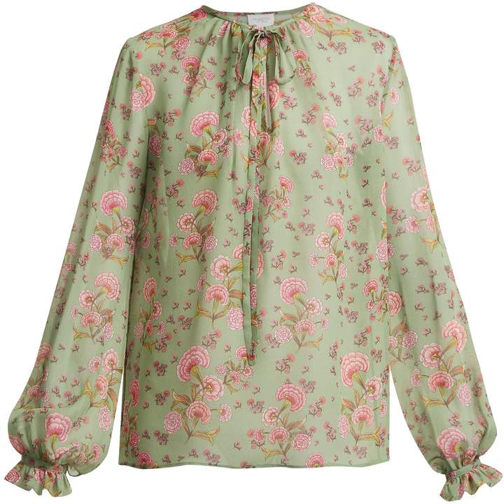Giambattista Valli Dahlia floral-print silk-georgette blouse