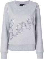 Love Moschino Love frill sequin sweatshirt - women - Cotton - 38