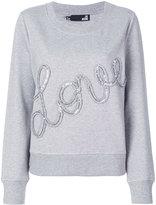 Love Moschino Love frill sequin sweatshirt