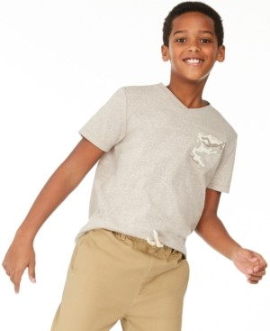 Epic Threads Big Boys Camo Pocket V-Neck T-Shirt, Created for Macy's