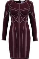 Herve Leger Elaina Metallic-Trimmed Bandage Mini Dress