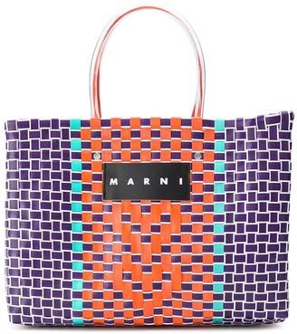 Marni Market Market woven shopping bag
