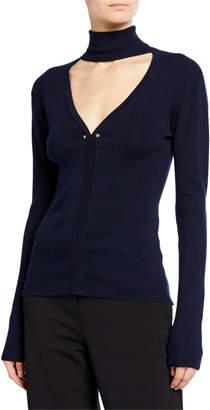 Dion Lee Turtleneck Cutout Sweater