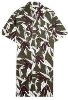 Marni Printed Cotton And Linen-Blend Twill Shirt Dress