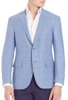 Corneliani Light Blue Plaid Blazer