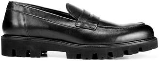 Vince Comrade Leather Lug-Sole Loafers