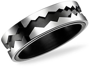Akillis Capture in Motion 18K White Gold & Titanium Rolling Ring