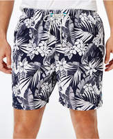 Tommy Bahama Men's Big and Tall Naples Plumeria Paradise Tropical-Print Sun Protection 50 Swim Trunks