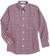 Nordstrom Check Cotton Poplin Dress Shirt (Big Boys)