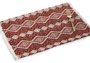 Lucky Brand Spice Woven Placemat with Fringe