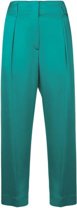 Forte Forte Cropped Straight-Leg Trousers