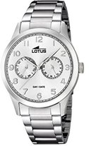 Lotus Men's Quartz Watch with Silver Dial Analogue Display and Silver Stainless Steel Bracelet 15954/a