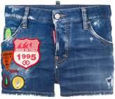 DSQUARED2 patch denim shorts