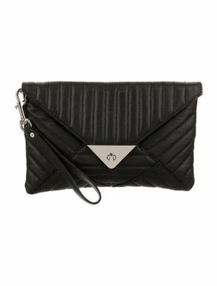 L.A.M.B. Leather Clutch Black Leather Clutch