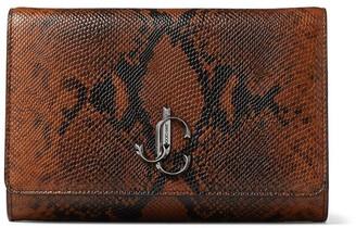 Jimmy Choo Leather Snake-Effect Varenne Clutch Bag
