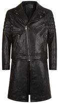 Neil Barrett Longline Leather Jacket