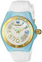 Technomarine Women's Quartz Watch with Silver Dial Analogue Display and White Silicone Strap TM-115227
