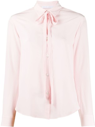 Societe Anonyme Long Sleeve Bow Tie Blouse