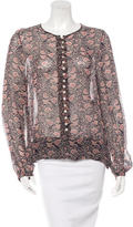 Etoile Isabel Marant Floral Print Button-Up Blouse