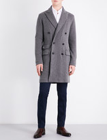 Ralph Lauren Purple Label Double-breasted wool and cashmere knitted coat