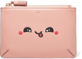 Anya Hindmarch Kawaii Leather Pouch - Antique rose