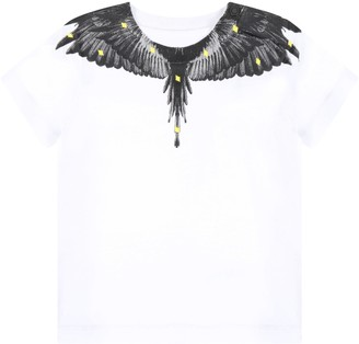 Marcelo Burlon County of Milan White T-shirt For Babyboy With Wings