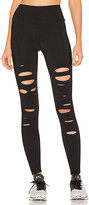 Alo High Waist Ripped Warrior Legging in Black. - size S (also in XS)
