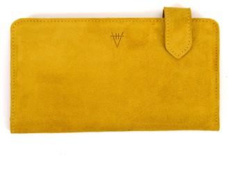 Hiva Atelier Fluctus Suede Wallet Mustard