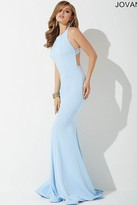 Jovani High Neck Open Back Dress 34110