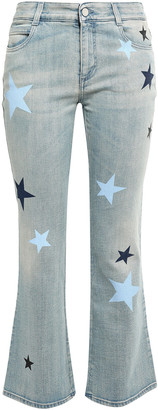 Stella McCartney Printed Mid-rise Kick-flare Pants