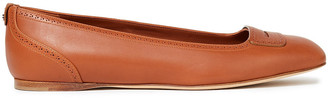 Loro Piana Eugene Perforated Leather Ballet Flats