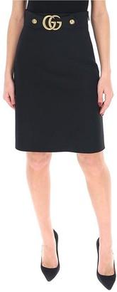 Gucci GG Embellished A-Line Skirt