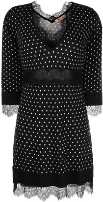 Twin-Set Star-Print Knitted Short Dress