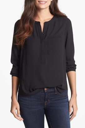 NYDJ Split Neck Henley Blouse