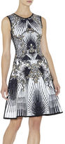 Herve Leger Alexis Scroll Jacquard Studded Dress