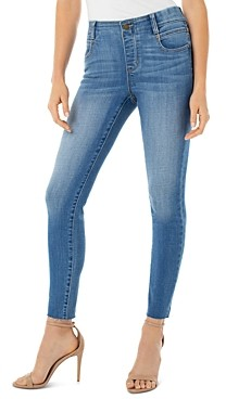 Liverpool Los Angeles Gia Glider Raw Hem Ankle Jeans in Oxford