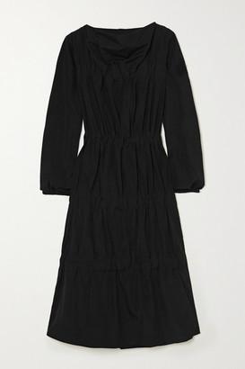 MONCLER GENIUS 1 Jw Anderson Tiered Ruched Poplin Dress - Black