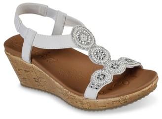 Skechers Cali Beverlee Date Glam Wedge Sandal